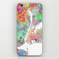 New York map splash painting iPhone & iPod Skin