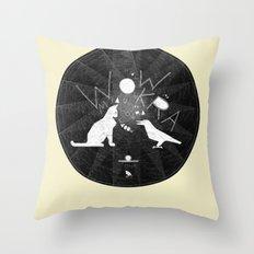 Urban Animal Noise Throw Pillow
