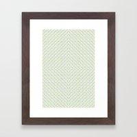 Dot illusion Framed Art Print