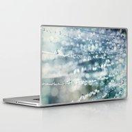 Blue Grass Drops Laptop & iPad Skin