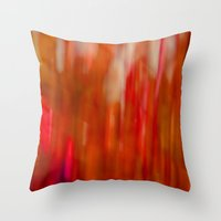 Autumn Blur Red Throw Pillow