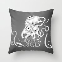 Tentacle Creature Throw Pillow