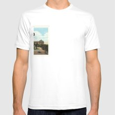 The King of Austin White Mens Fitted Tee SMALL