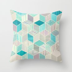 Vacation Patchwork Throw Pillow
