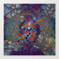 Mosaic Abstract Canvas Print