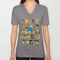 Simpsons Alphabet Unisex V-Neck