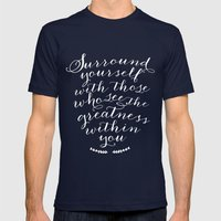 Surround yourself with... Mens Fitted Tee Navy SMALL