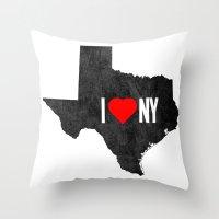 I (Heart) TX Throw Pillow