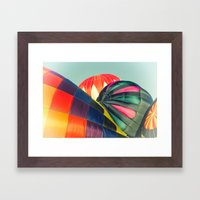 Balloon Love: up up and away! Framed Art Print