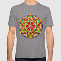 Groove Engine Mens Fitted Tee Tri-Grey SMALL