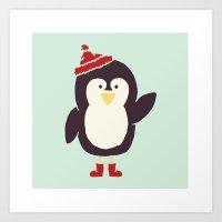 Penguin Buddy Art Print