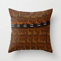 Wookiee Talkie Throw Pillow