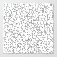British Mosaic DIY Canvas Print