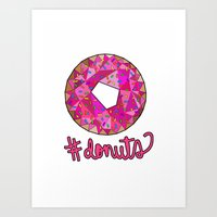 #donuts Art Print