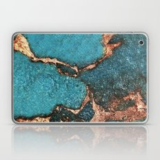 AQUA & GOLD GEMSTONE Laptop & iPad Skin