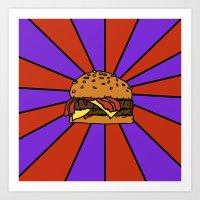 The Burger  Art Print