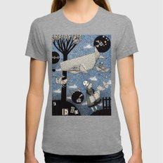 When I read... Womens Fitted Tee Tri-Grey SMALL