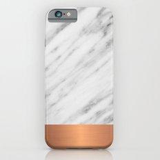 Carrara Italian Marble Holiday Rose Gold Edition Slim Case iPhone 6s