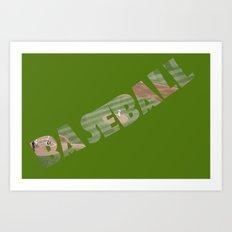Baseball Typography Art Print