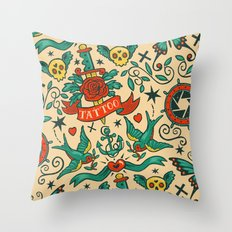 Tattoos Throw Pillow