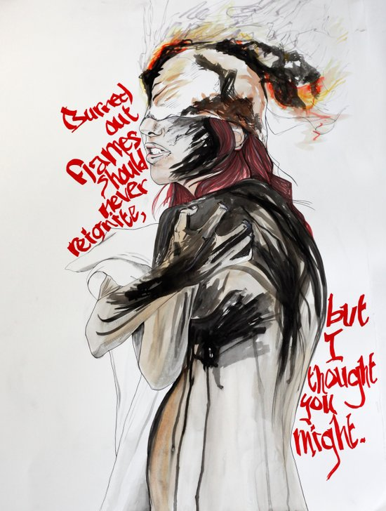 Burning Like A Bridge Through Your Body Art Print