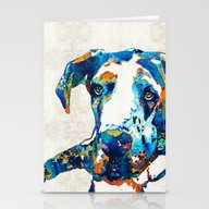 Great Dane Art - Stick W… Stationery Cards
