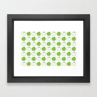 Green Apple Framed Art Print