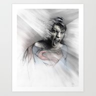 Art Print featuring Superheroes SF by Alexis Marcou
