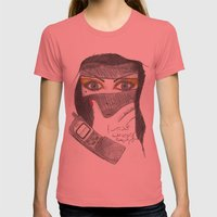 Banana Call Womens Fitted Tee Pomegranate SMALL