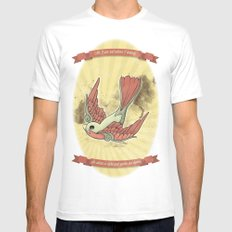 As Much As I Ever Could SMALL Mens Fitted Tee White