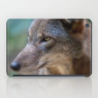Red Wolf Stares iPad Case