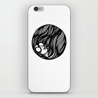 Circle Lady 2 iPhone & iPod Skin