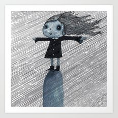 Even When It Is Raining I go up on my Hill Art Print