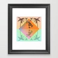 SKATEBOARDING FROM SUNRI… Framed Art Print