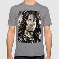 Aragorn Mens Fitted Tee Tri-Grey SMALL