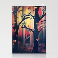 The Woods at Sunset Stationery Cards