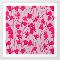Flowering Cyclamen #1 Art Print