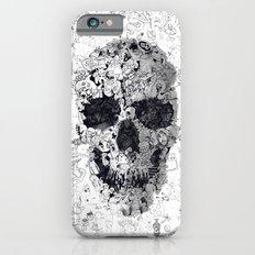 Doodle Skull BW Slim Case iPhone 6s