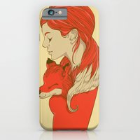 lady iPhone & iPod Cases featuring Lady Fox by Huebucket