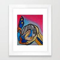 Small Love Framed Art Print