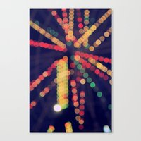 At the Show Bokeh Canvas Print