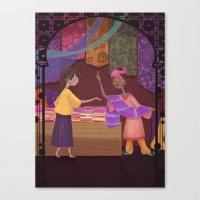 Silk Trade Canvas Print
