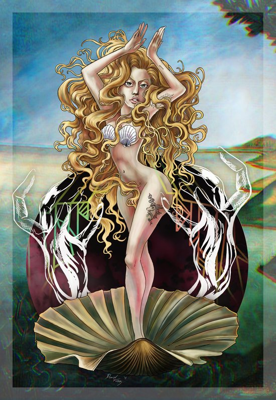 Birth of a Contemporary Venus Art Print