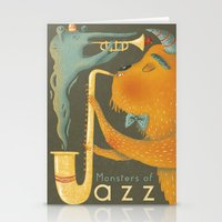 Monsters of Jazz Stationery Cards