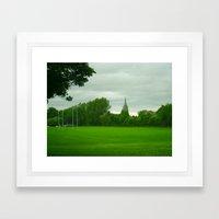 Rugbyfield Framed Art Print