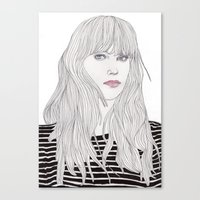 Pastel Girl 1 Canvas Print