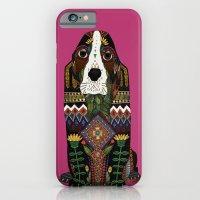 Basset Hound Fuchsia Pin… iPhone 6 Slim Case