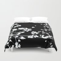 Black Dogwood Duvet Cover