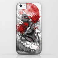 iPhone 5c Cases featuring Dragon by Marine Loup