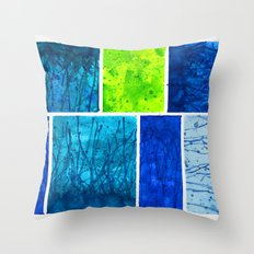 Blue Block Throw Pillow